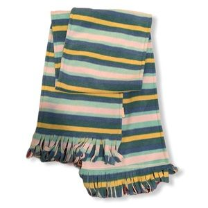 100% polyester striped scarf